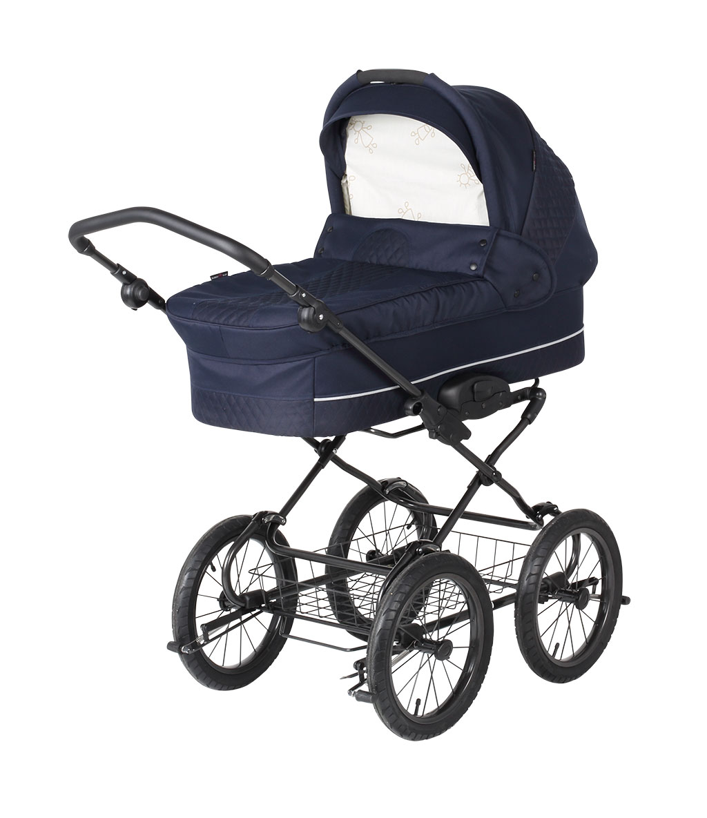 basson baby grande soft kinderwagen marineblau gesteppt grande soft basson baby. Black Bedroom Furniture Sets. Home Design Ideas