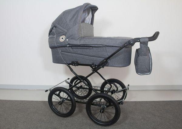 Trille Dream Kinderwagen - Grau Melange - inkl. Innentragetasche & Wickeltasche
