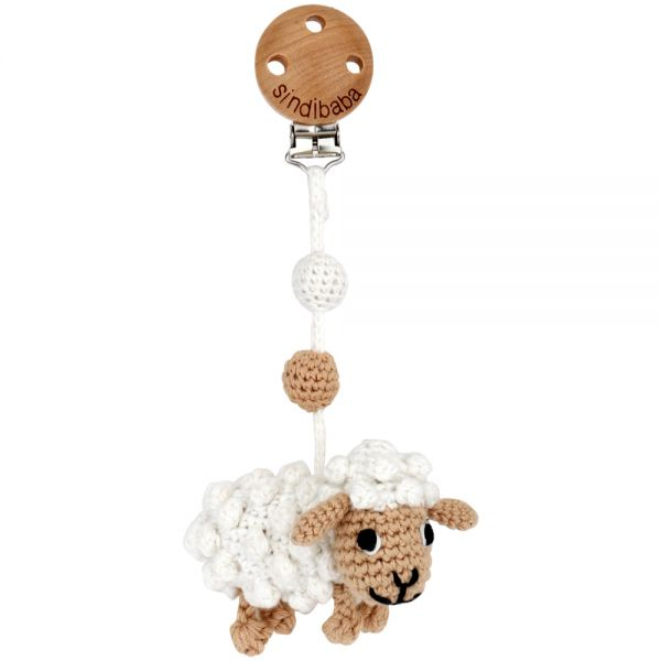 Single Mobilé - Schaf mit Rassel - weiß