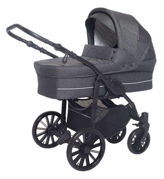 Basson Baby Nordic Lux 85 Kinderwagen - Dunkelgrau / Melange