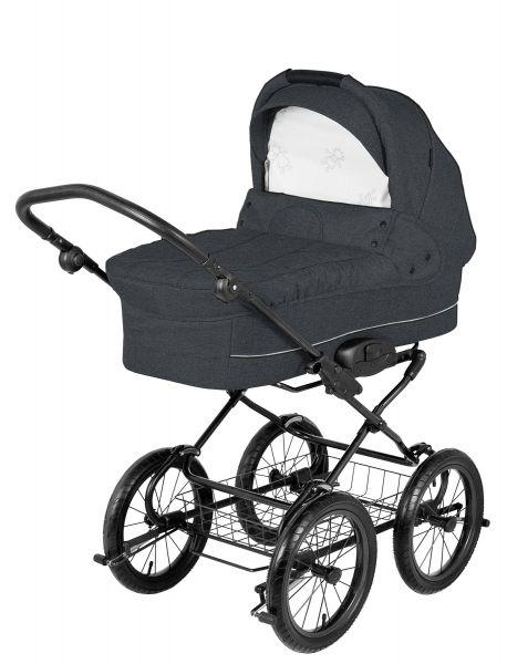 Basson Baby Grande Soft Kinderwagen - Dunkelgrau / Melange