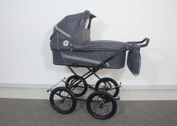Trille Dream Kinderwagen - Grau Denim - inkl. Innentragetasche & Wickeltasche