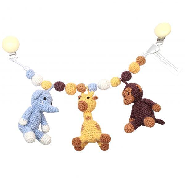 Kinderwagen Mobilé - Mr. Monkey, Mr. Giraffe and Sir Elephant