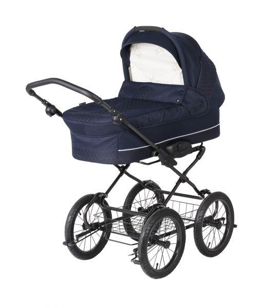 Basson Baby Grande Soft Kinderwagen - Marineblau / gesteppt