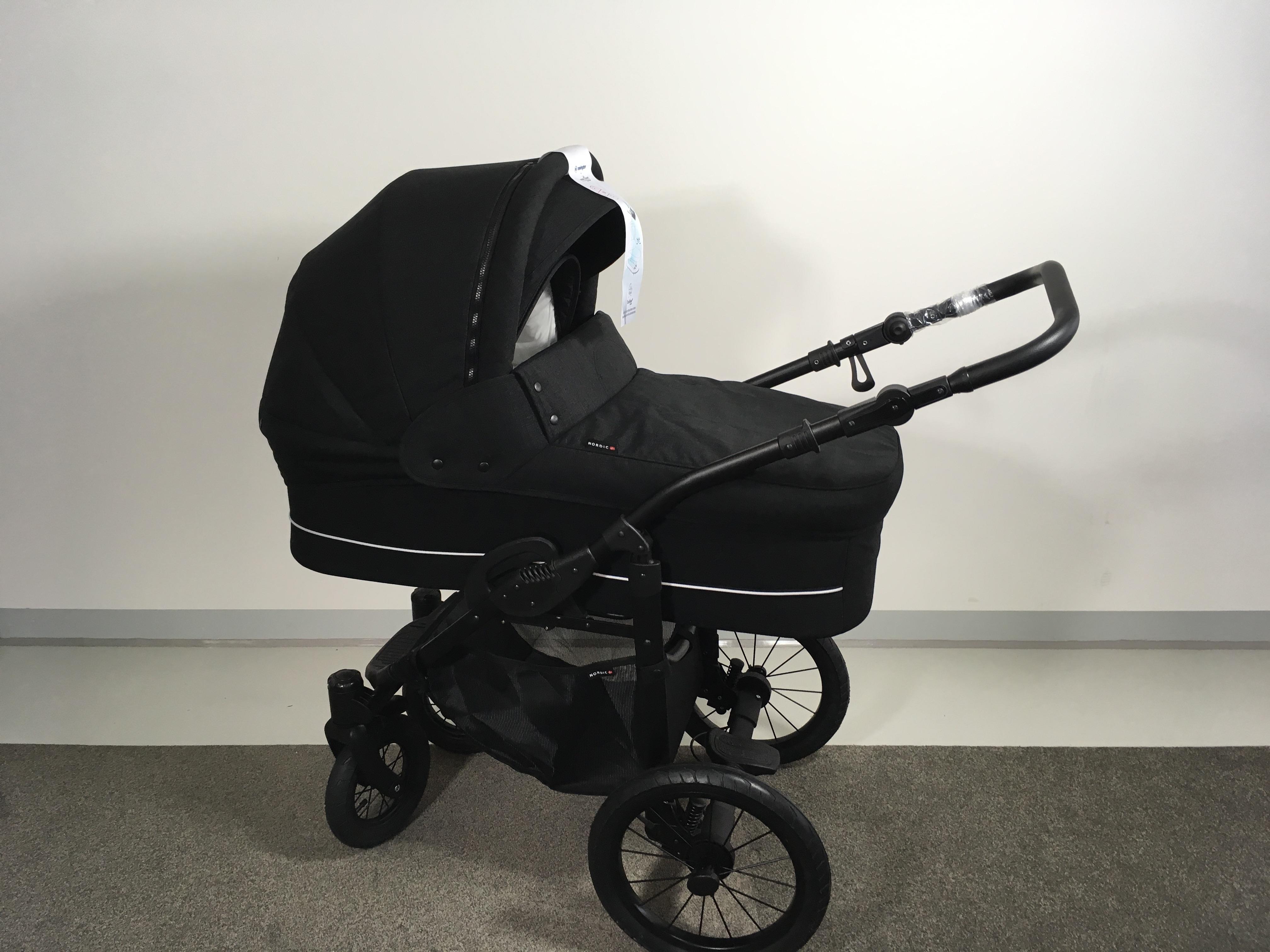 basson baby nordic lux kinderwagen dusty black nordic lux basson baby kinderwagen. Black Bedroom Furniture Sets. Home Design Ideas