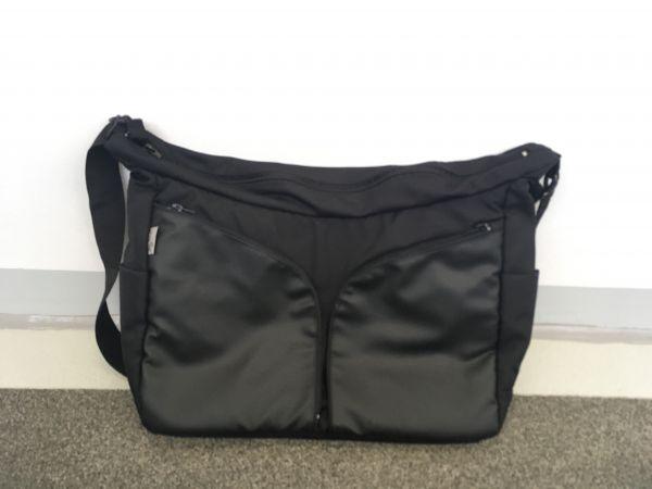 Wickeltasche Jedo schwarz mit Leder