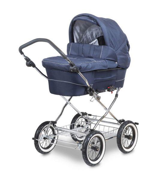 Trille Hippa Kinderwagen - Marineblau / Weiß - inkl. Innentragetasche & Wickeltasche