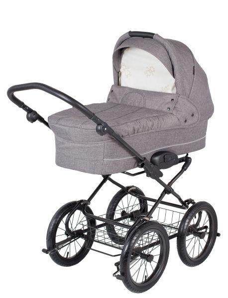 Basson Baby Grande Soft Kinderwagen - Grau / Melange