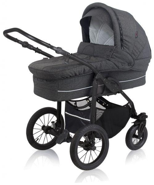 Basson Baby Nordic Lux Kinderwagen - Dunkelgrau / Melange