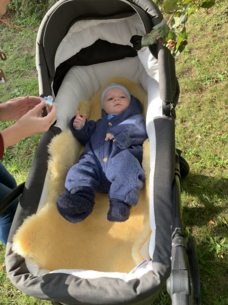 Lammfell groß für dänische Kinderwagen