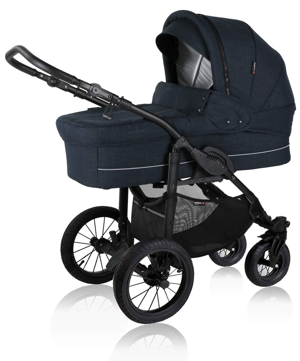 basson baby nordic lux kinderwagen dusty navy nordic lux basson baby kinderwagen. Black Bedroom Furniture Sets. Home Design Ideas