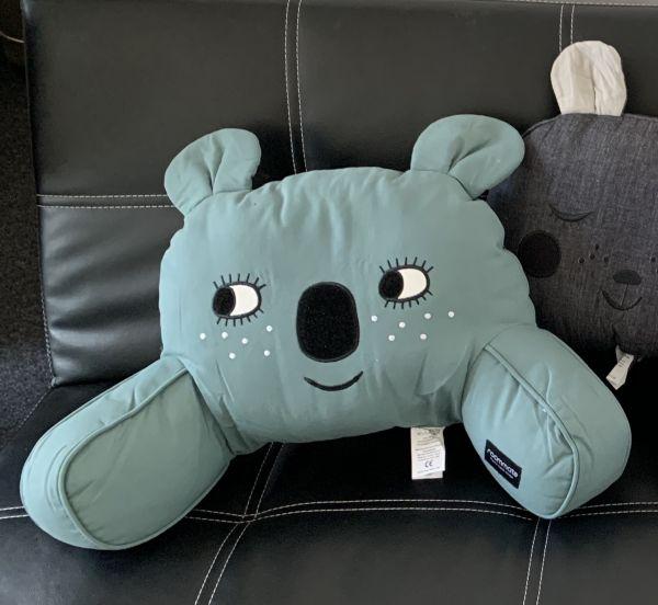 Sitzkissen für den Kinderwagen - Koala blaugrün